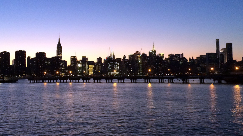 CITY SCAPE New York City VIEW FROM BROOKLYN at sunset
